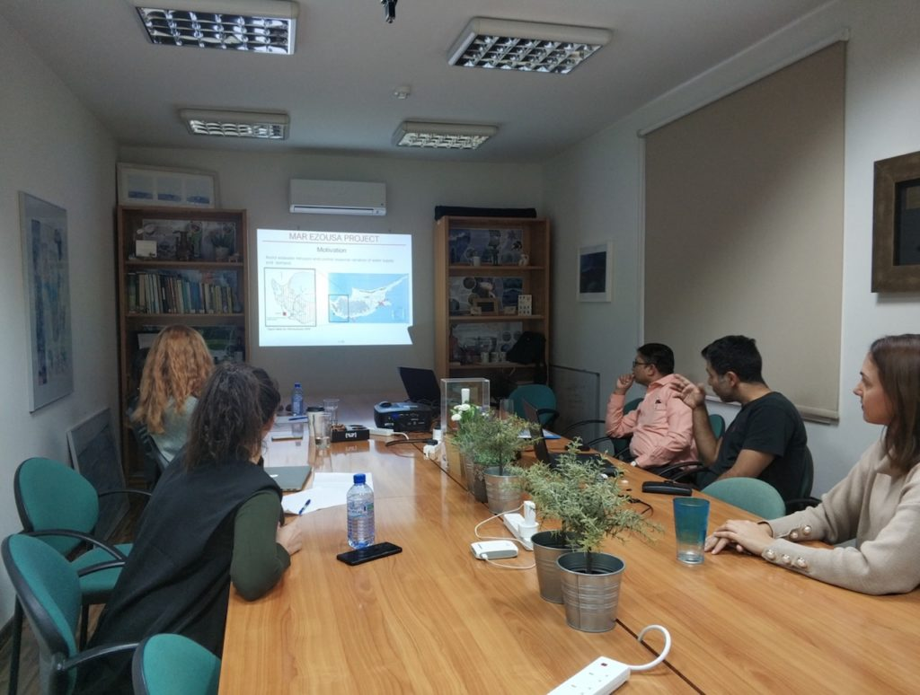 Project presentation at the at NIREAS facilities in Nicosia, Cyprus